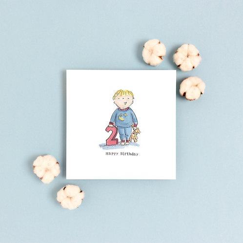 Boy Age 2 Birthday Card