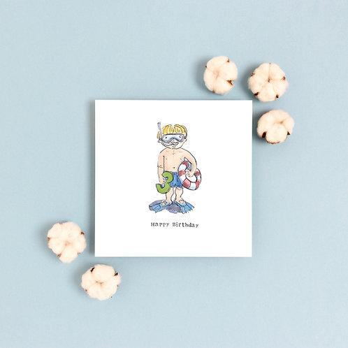 Boy Age 3 Birthday Card