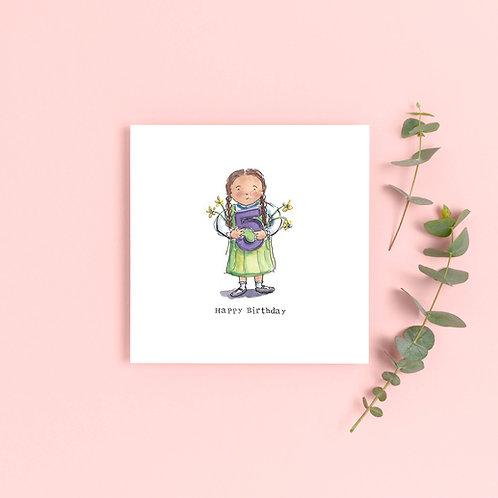 Girl Age 5 Birthday Card