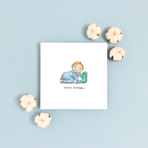 Boy Age 1 Birthday Card