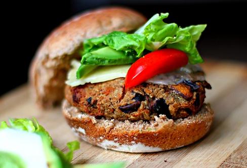 Veggie Burger Meal Basket