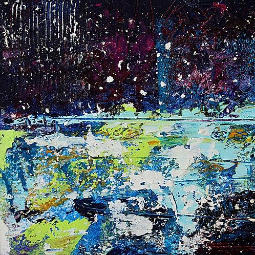 Stars and Snow Print