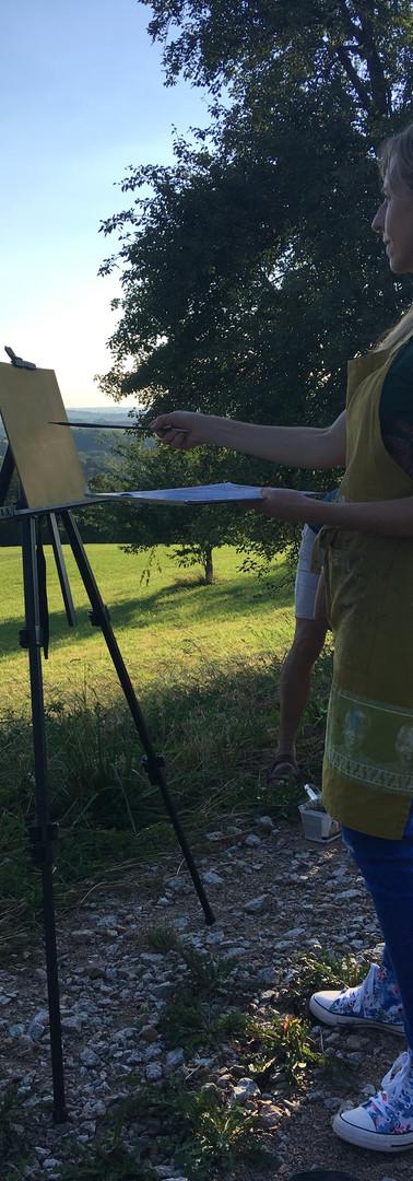 Plein air painting in Germany