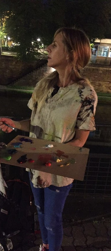 Night Painting in Strasbourg, France