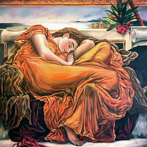 Flaming June after Frederick Leighton