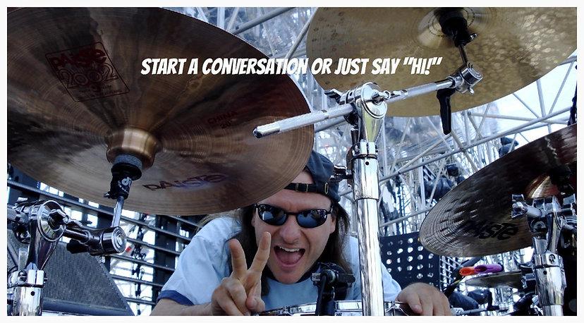 Session drummer Matt Laug at sound check - Vasco Rossi Tour 2007