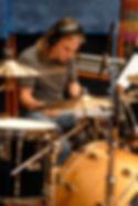 Session drummer Matt Laug tracking drums at Henson Studios Hollywood, CA.