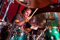 Session drummer Matt Laug in the recording studio.