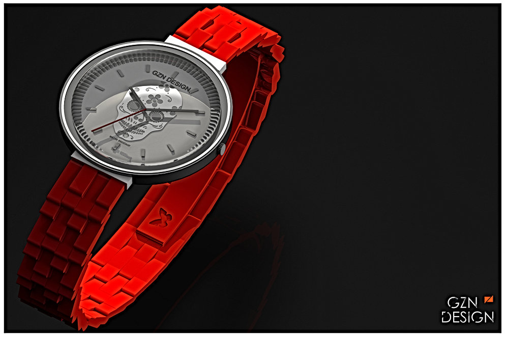 MONTRE ROUGE PROPRIETE GZN DESIGN