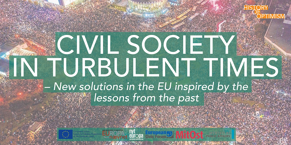 Civil society in turbulent times – New solutions in the EU inspired by the lessons from the past