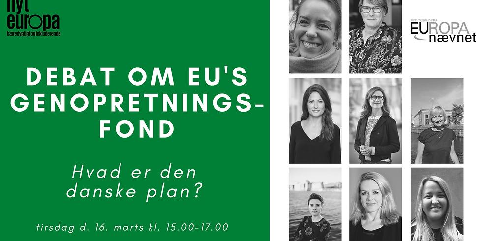 EU's genopretningsfond- hvad er den danske plan?