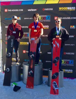 Snowboard athlete Matt Miller on the move