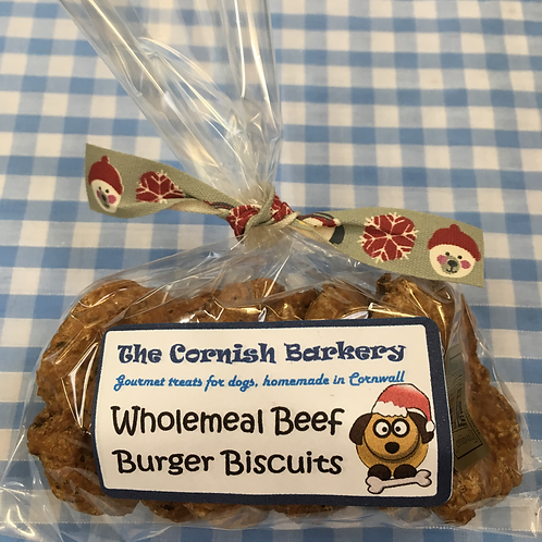 Festive Wholemeal Beef Burger Biscuits