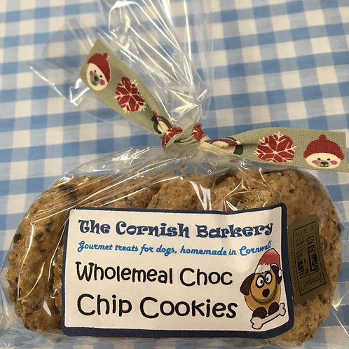 Festive Wholemeal Choc Chip Cookies