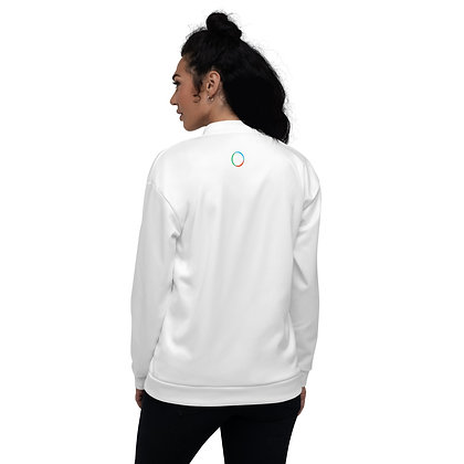 Unisex Bomber Jacket white