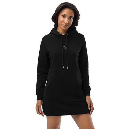 Hoodie dress embroided