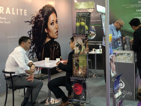 BioAktive Plant Based Ingredients Natralite and HydraMaxx Perform Well at InCosmetics Asia