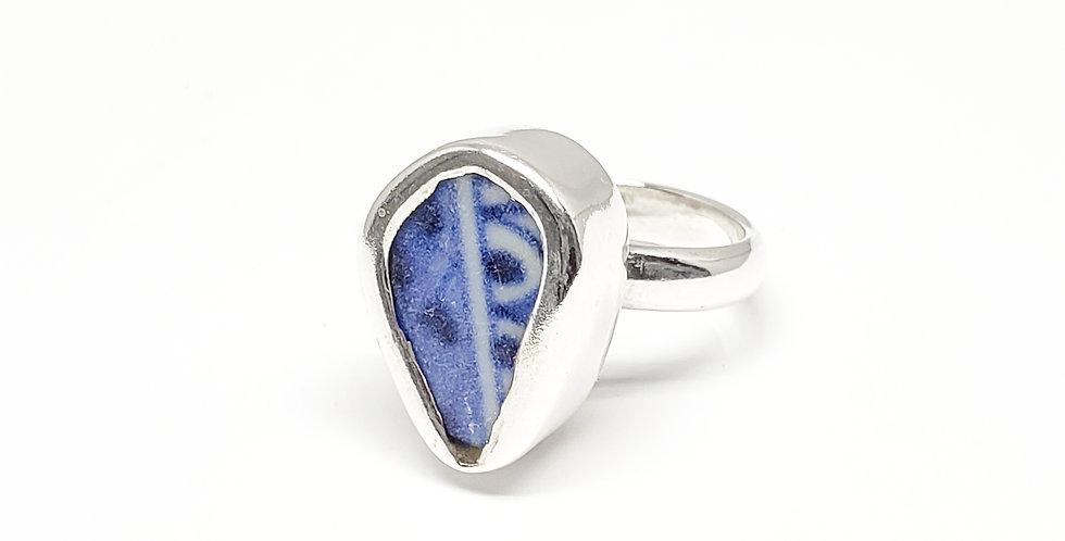 Chaney BlueTeardrop Ring