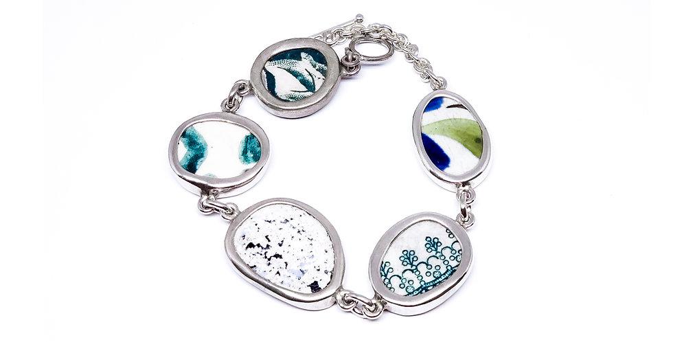 Chaney Link Aqua Bracelet