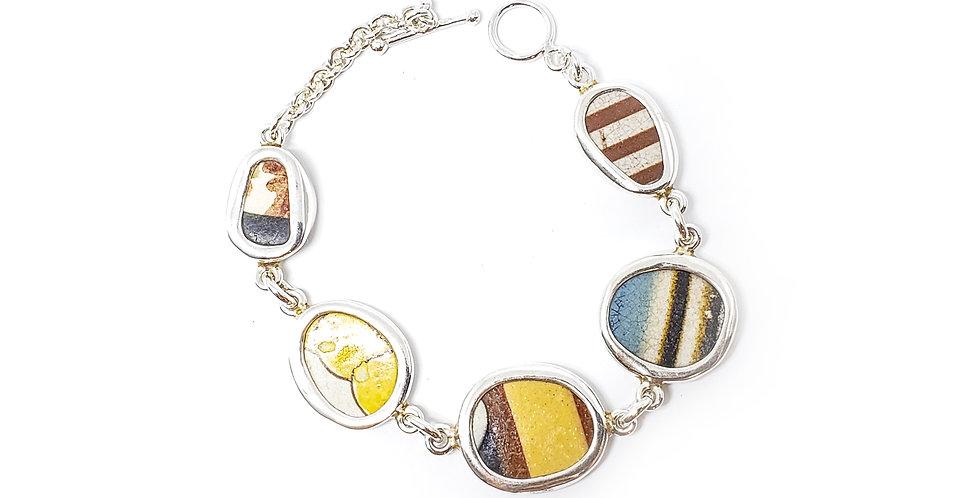 Chaney Link Stripes Bracelet