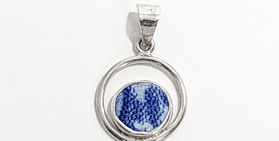 Chaney Blue Speckles Pendant