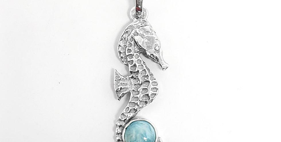 Larimar Seahorse Pendant