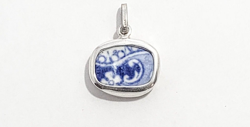 Chaney Blue Botanic Pendant