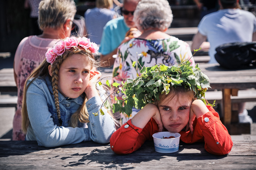SWEDEN / Stockholm / 21.06.2019 / At the Midsommar festivities at Skansen, the world`s oldest open air museum, the longest day of the year can be simply too long. © Gregor Kallina