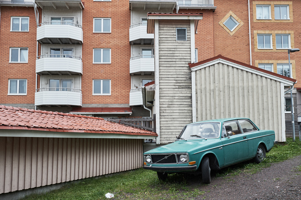 SWEDEN / Norrbottens laen / Kiruna / 05.07.2017 / City scene in Kiruna. The houses here will be affected by the deformation zone. © Gregor Kallina / Anzenberger