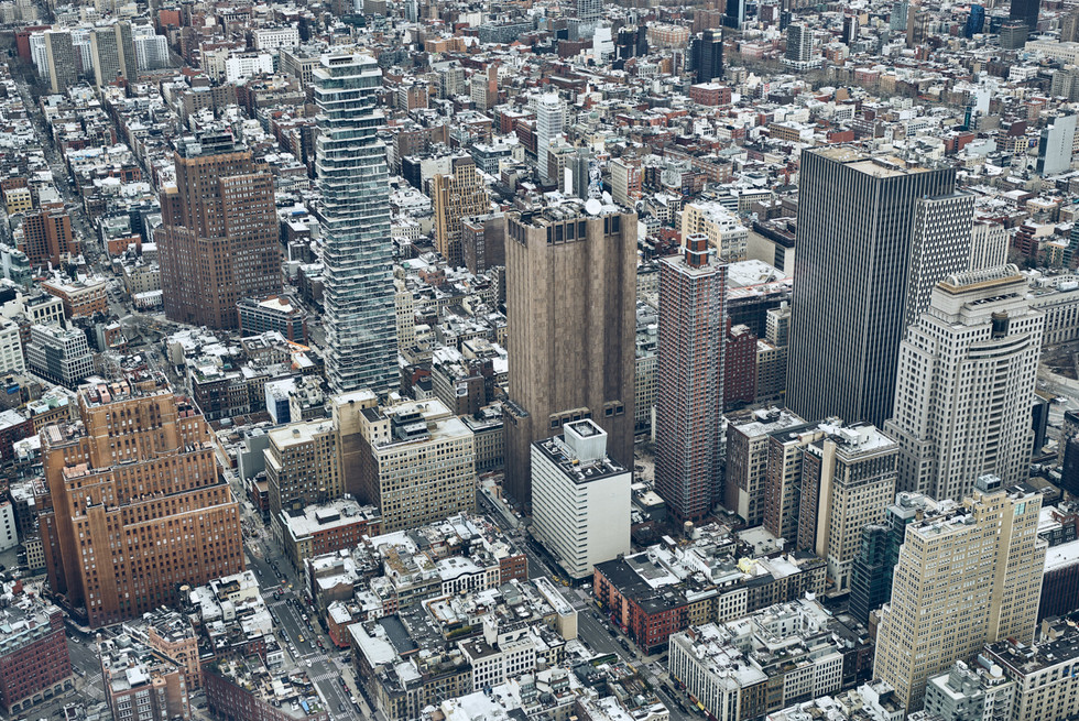 USA / New York City / 04.03.2018 / View from the One World Trade Center.