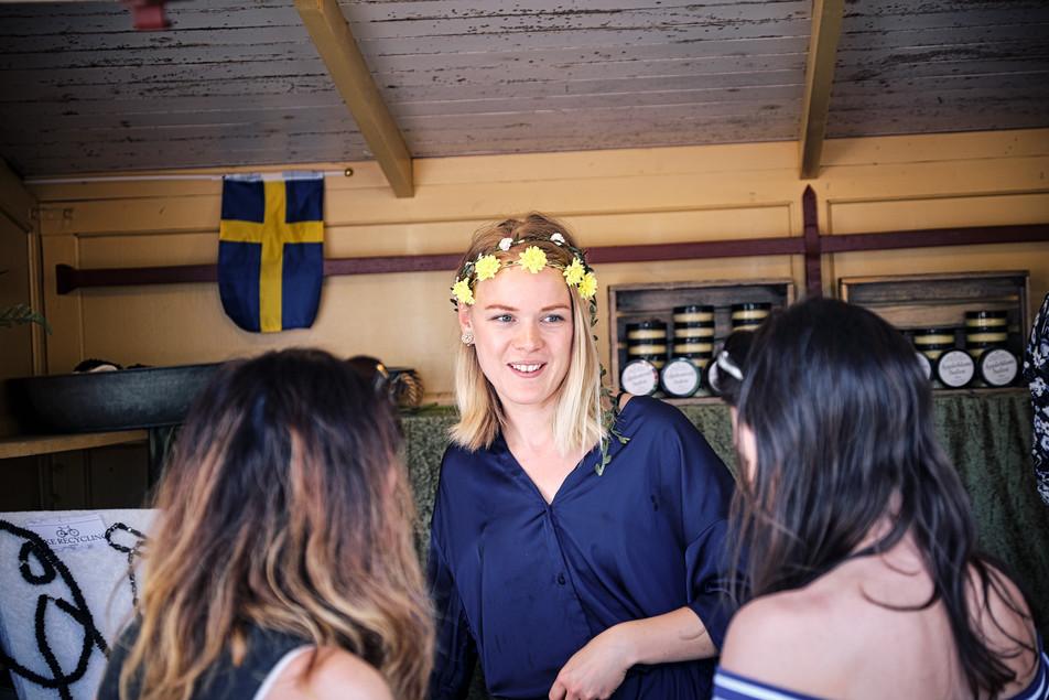 SWEDEN / Stockholm / 21.06.2019 / During the midsummer celebrations there are many small shops at Skansen, Stockholm`s open air museum. © Gregor Kallina
