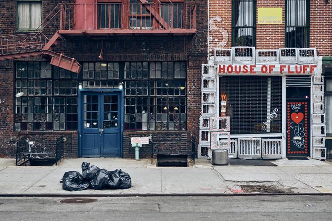 USA / New York City / 04.03.2018 / House facade in East Village.