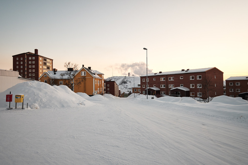 SWEDEN / Norrbottens laen / Kiruna / 09.03.2017 / View of the city of Kiruna. The houses here will  be affected by the deformation zone. © Gregor Kallina / Anzenberger