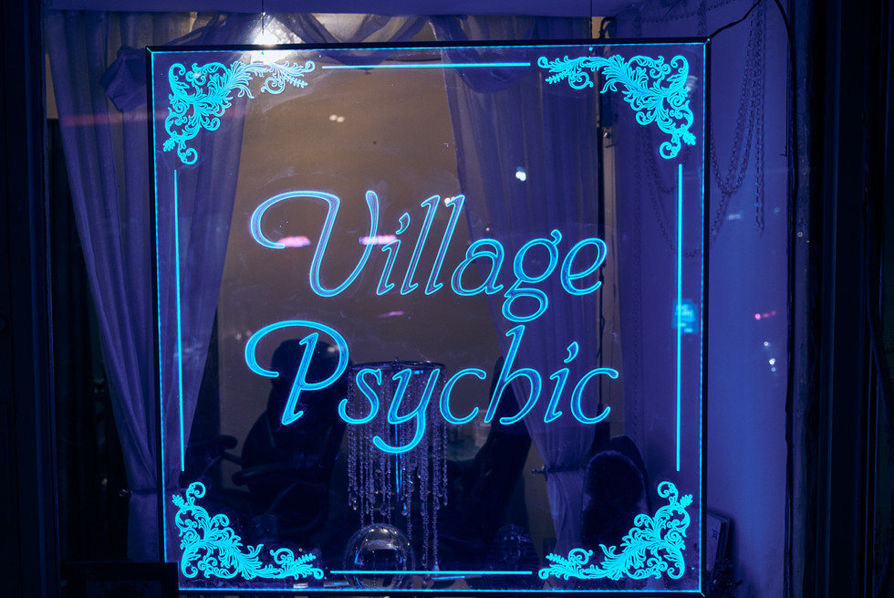 USA / New York City / 06.03.2018 /  Numerous clairvoyants offer their service in East Village.