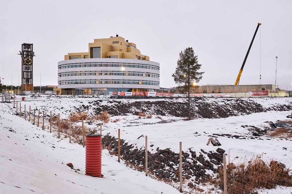 "SWEDEN / Norrbottens laen / Kiruna / 12.11.2018 / From my award-winning fotostory ""Iron Heart"" The new city hall, officially opened on 22nd November 2018.  © Gregor Kallina / Anzenberger"
