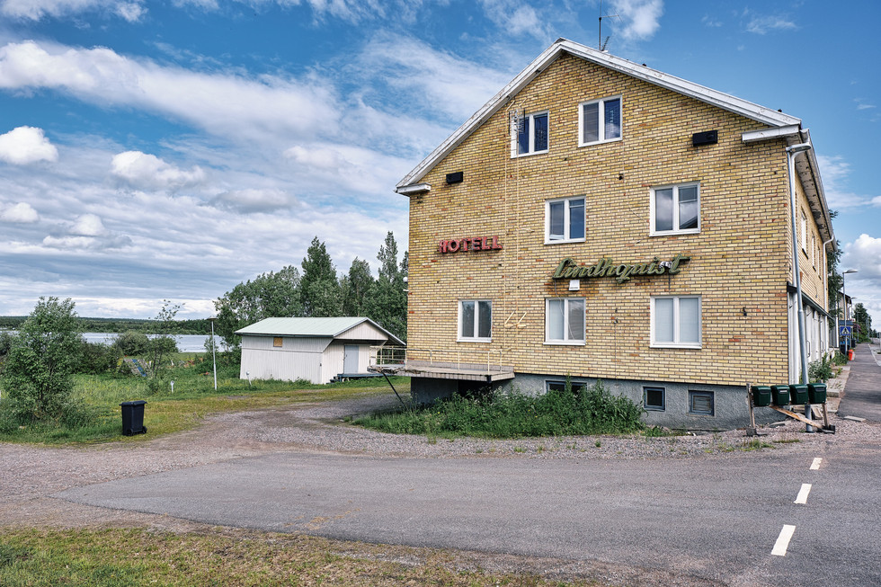 """SWEDEN / Vittangi / 24.06.2019 / Hotel in Vittangi, the parish of Swiss-born priest Jean-Claude Marclay, 1500 members on 6000 square kilometres in the very north of Sweden. In 1975 around 1300 people lived here, now there are not more than 800. From my project """"Awakening"""". © Gregor Kallina"""