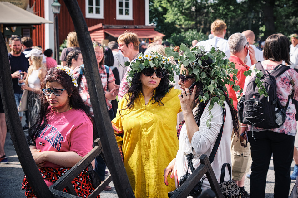 SWEDEN / Stockholm / 21.06.2019 / Some customes are not easy to get used to at the midsummer celebrations at Skansen, Stockholm`s open air museum. © Gregor Kallina