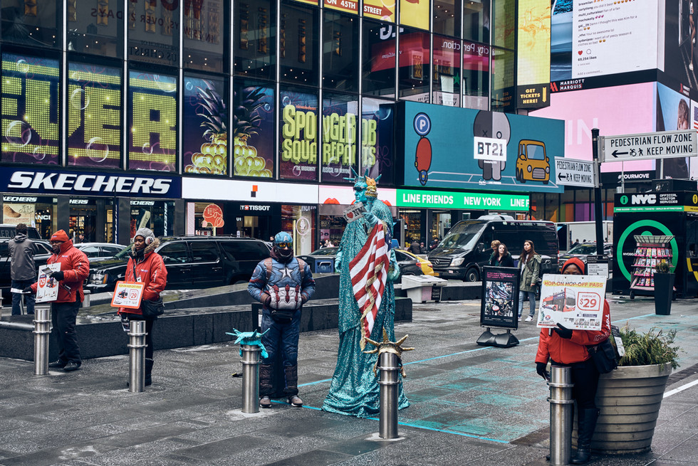 USA / New York City / 08.03.2018 / Times Square.