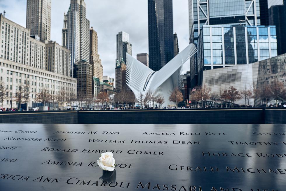USA / New York City / 04.03.2018 / World Trade Center,  9/11 memorial.