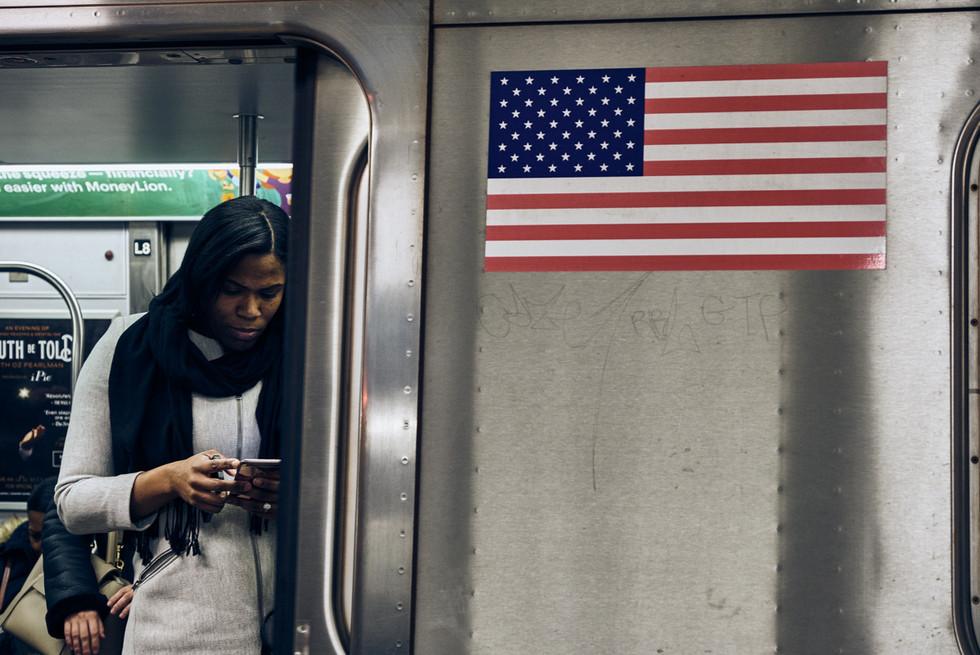 USA / New York City / 06.03.2018 / Subway station scene.