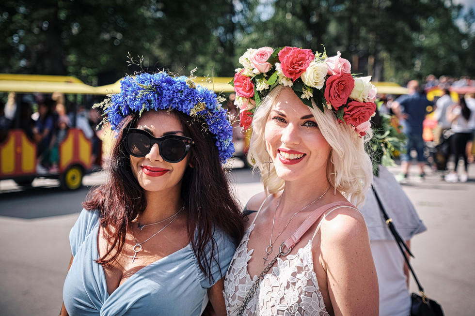 SWEDEN / Stockholm / 21.06.2019 / Good mood at the Midsommar festivities at Skansen, Stockholm`s open air museum. © Gregor Kallina