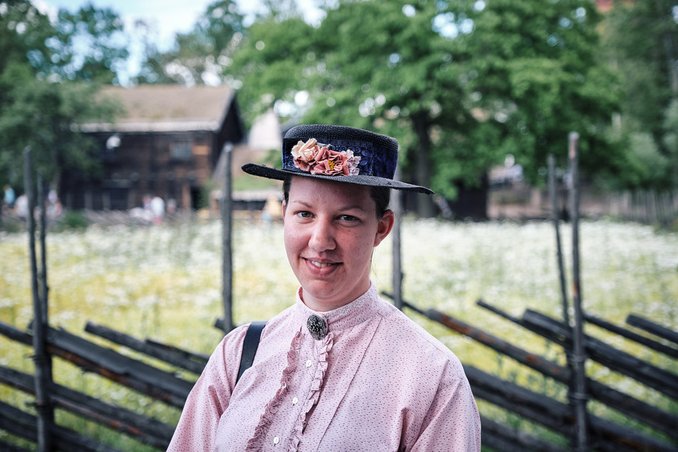 SWEDEN / Stockholm / 21.06.2019 / At Skansen, Stockholm`s open air museum, in every building and around the area there are interpreters in authentic dresses telling you what life was like in Sweden in the old days. © Gregor Kallina