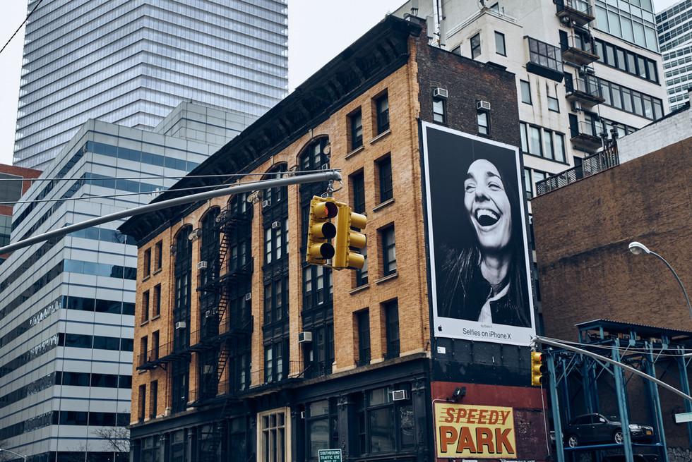 USA / New York City / 04.03.2018 /  Street scene at West Broadway.