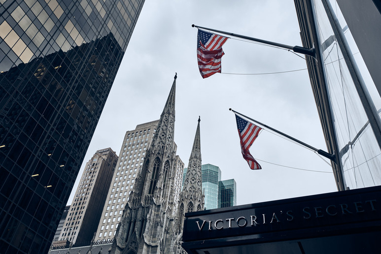 USA / New York City / 08.03.2018 / St. Patrick`s Cathedral as viewed from 5th Avenue.