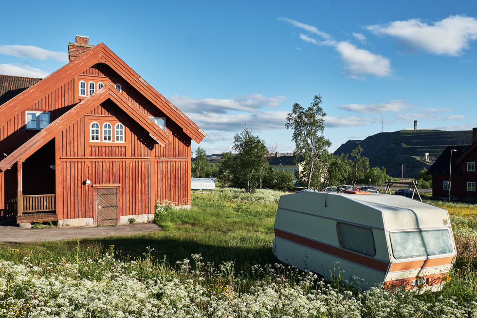 SWEDEN / Norrbottens laen / Kiruna / 07.07.2017 / House near the railway station, originally built for the former railway staff. The houses here will be affected by the deformation zone.  © Gregor Kallina / Anzenberger