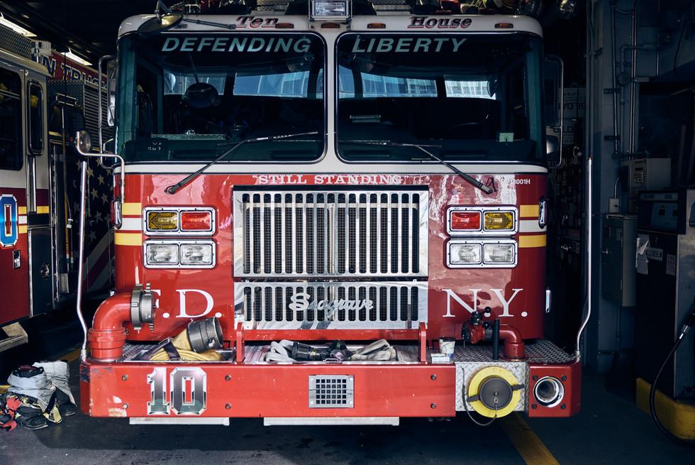 USA / New York City / 04.03.2018 /  Fire truck in Greenwich Village.