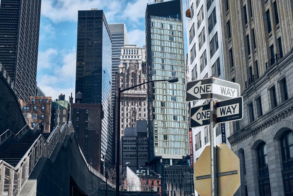 USA / New York City / 04.03.2018 / Near One World Trade Center.