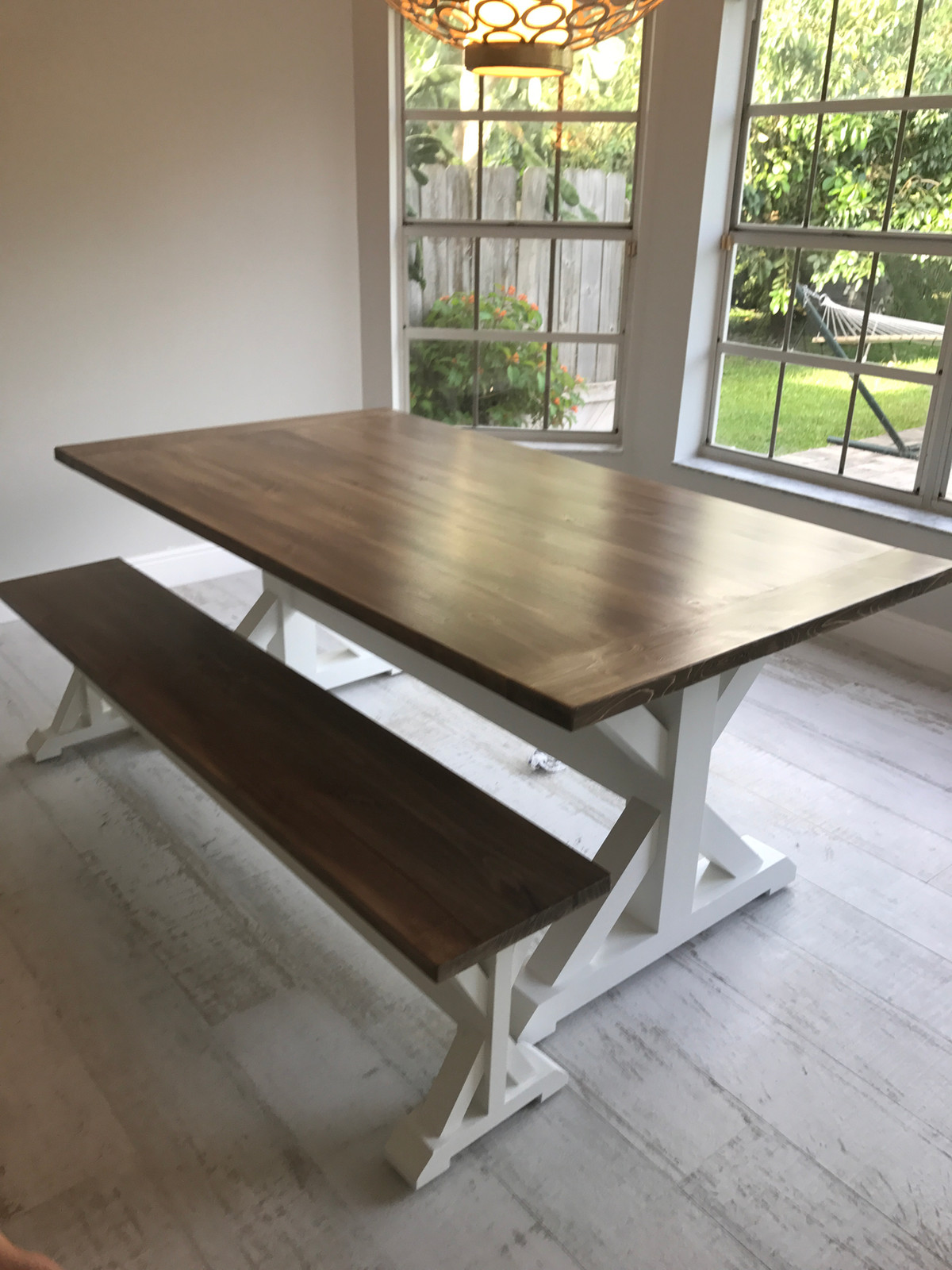 ... Farmhouse X Base Table.