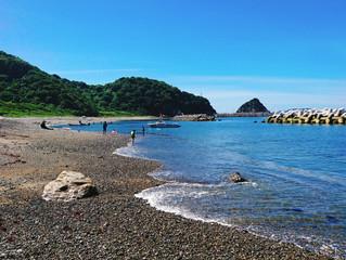 保戸島の海水浴場『瀬の浜』