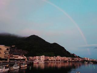 梅雨の晴れ間に島さんぽ~夕方~夜~